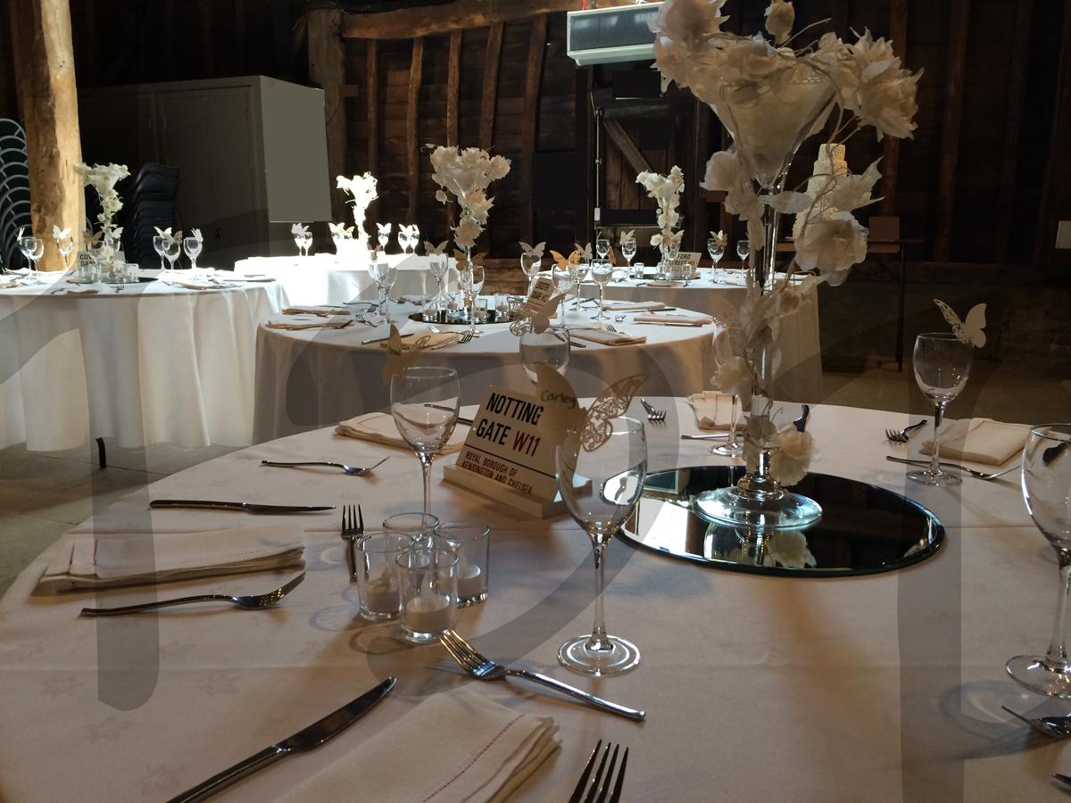 Black and white wedding decor so lets party wedding accessories hire junglespirit Images