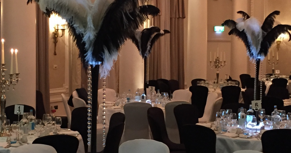 black-white-gala-awards-themed-decorations