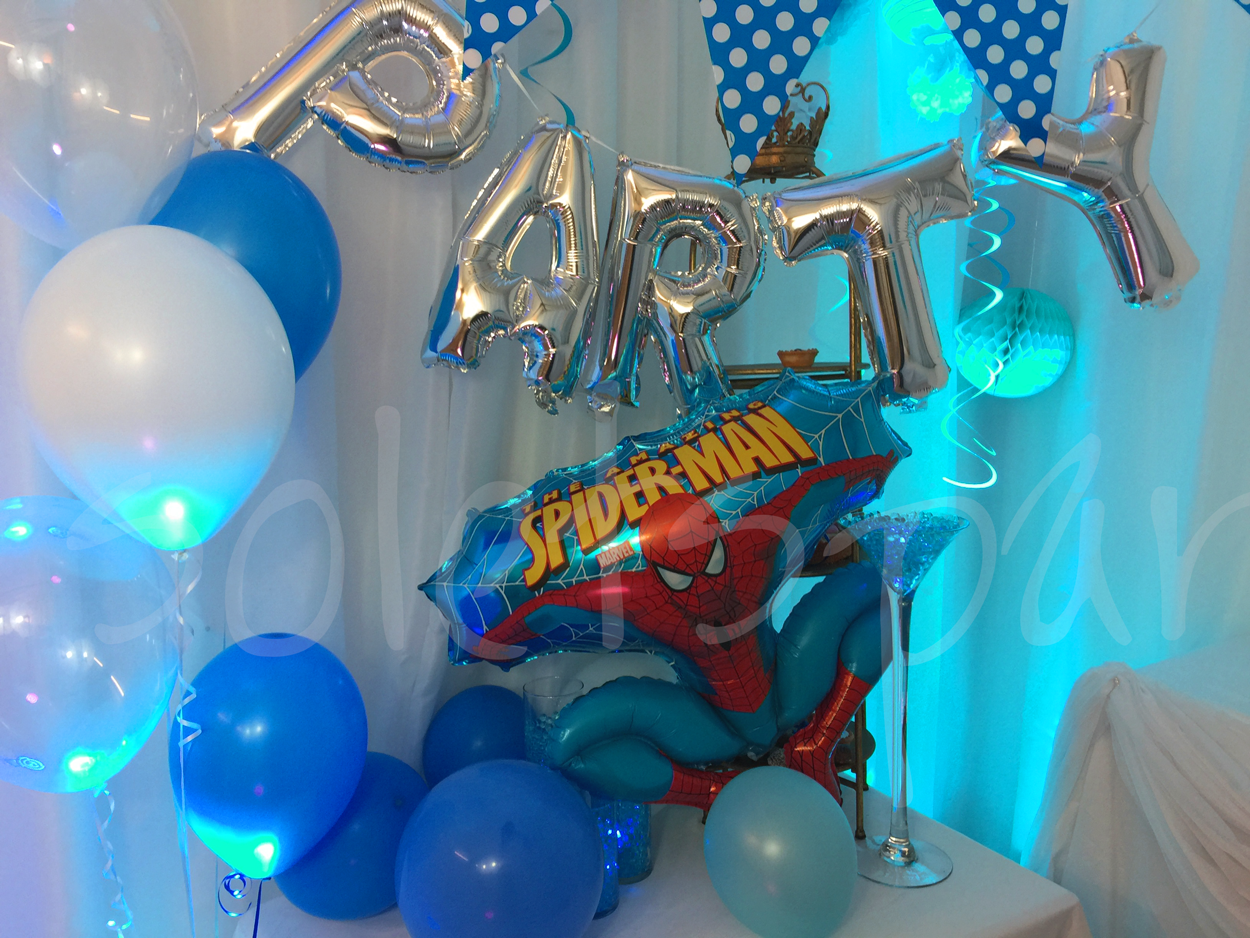 spiderman-balloon-decorations-childrens-party