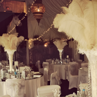 Ostrich Feather Wedding