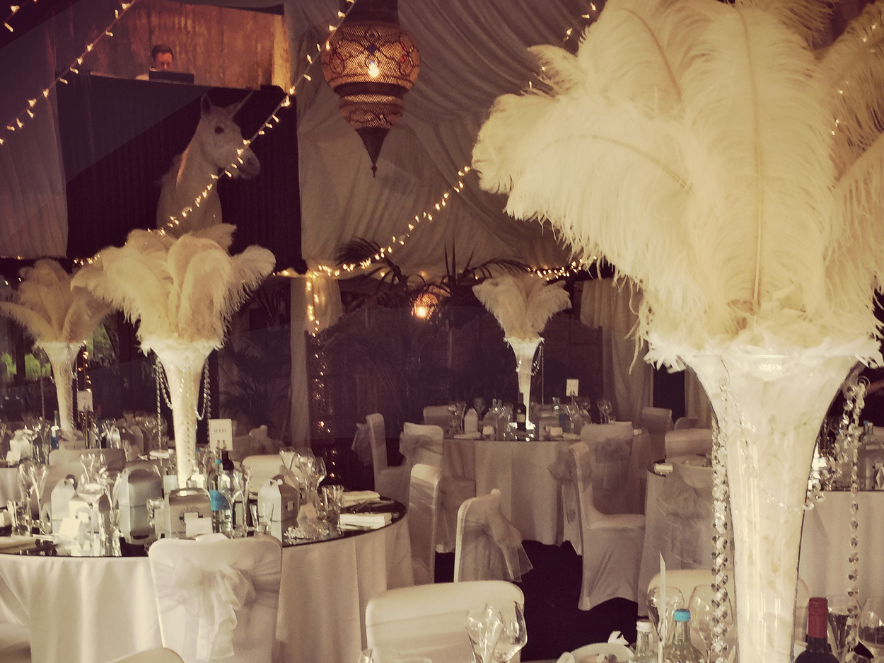 ostrich-feather-table-decorations