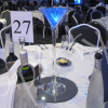 vivid blue table decoration