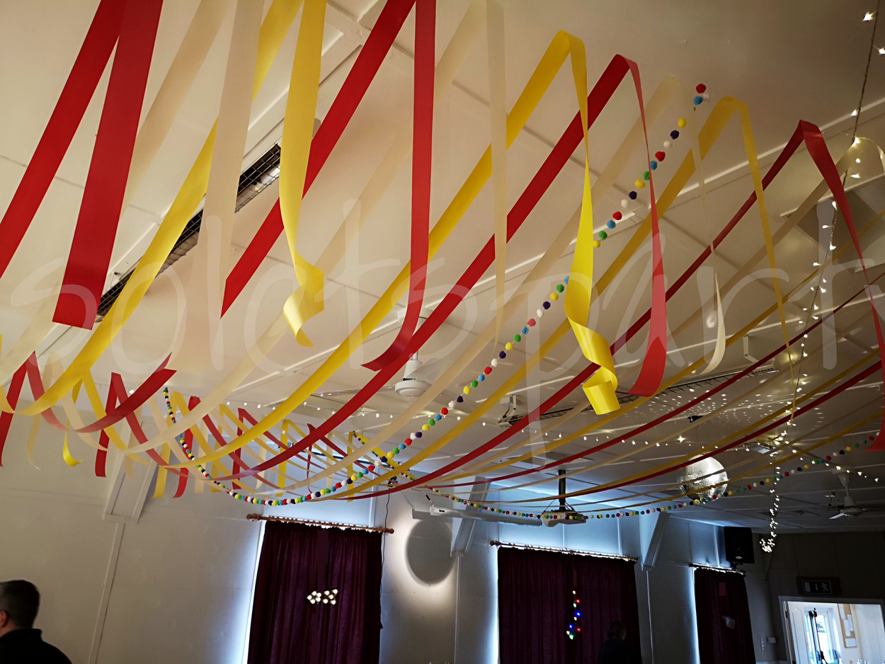Ribbon Canopies Ceiling Decorations So Lets Party