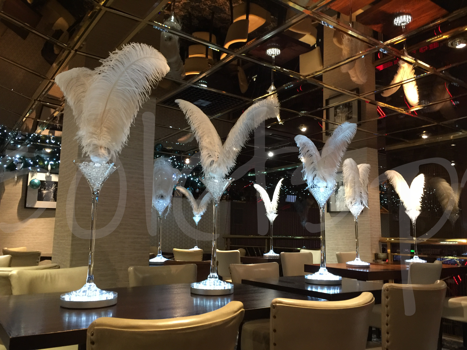 Dual Feather Decoration Hire So Lets Party