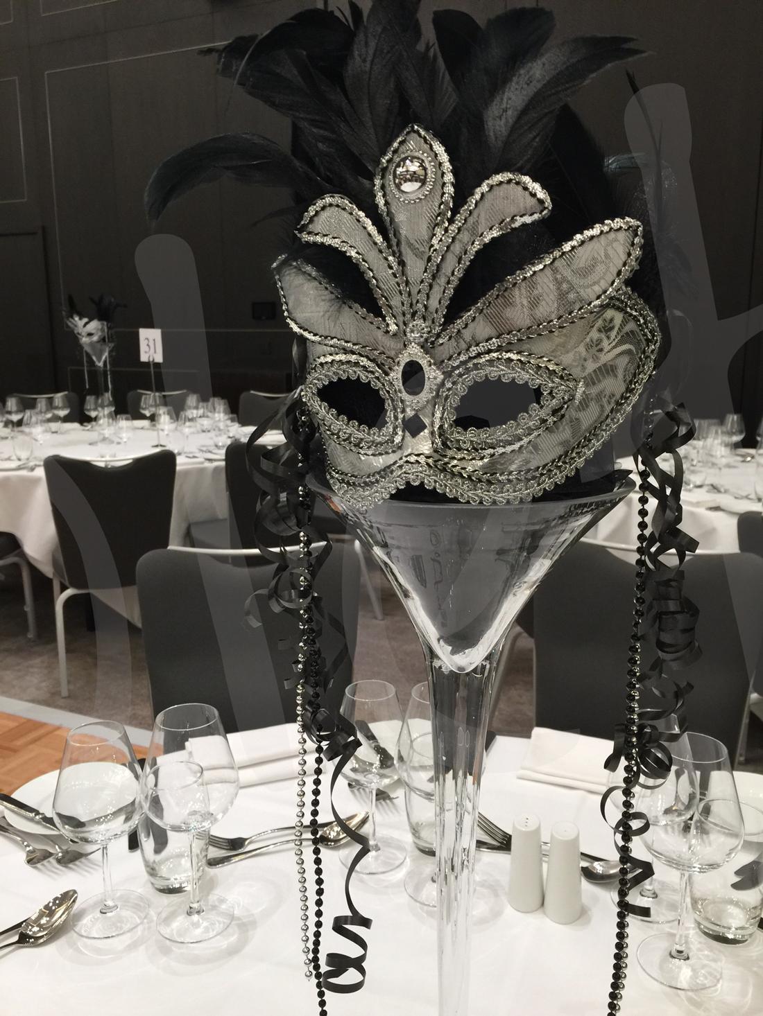 Quot Masquerade Quot Table Decoration Hire So Lets Party