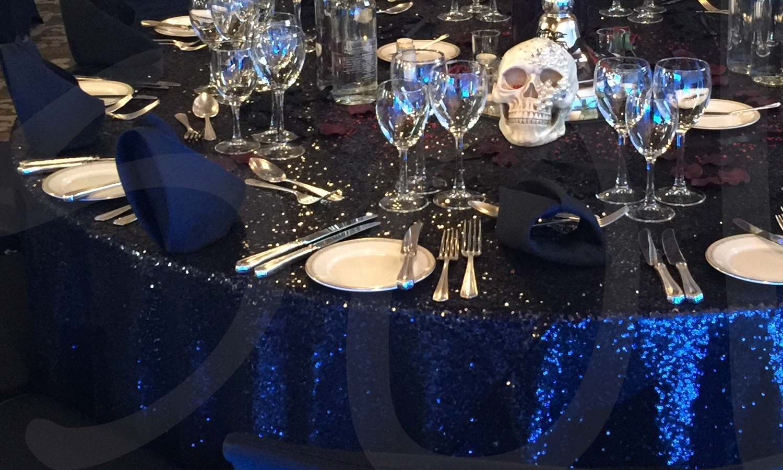 Black Sequin Sparkle Table Cloth So Lets Party