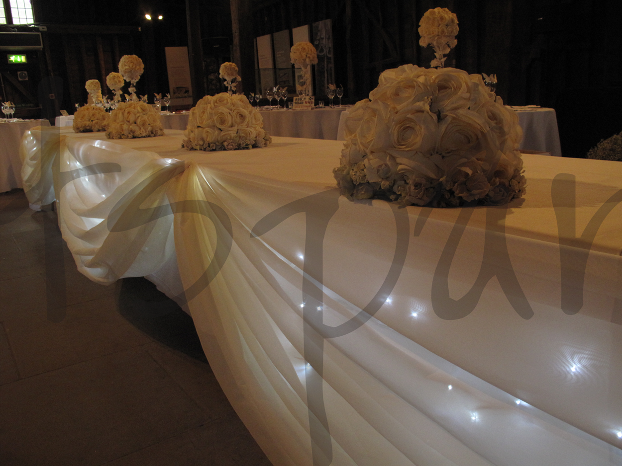 Quot Fairy Light Swag Quot Table Decoration So Lets Party