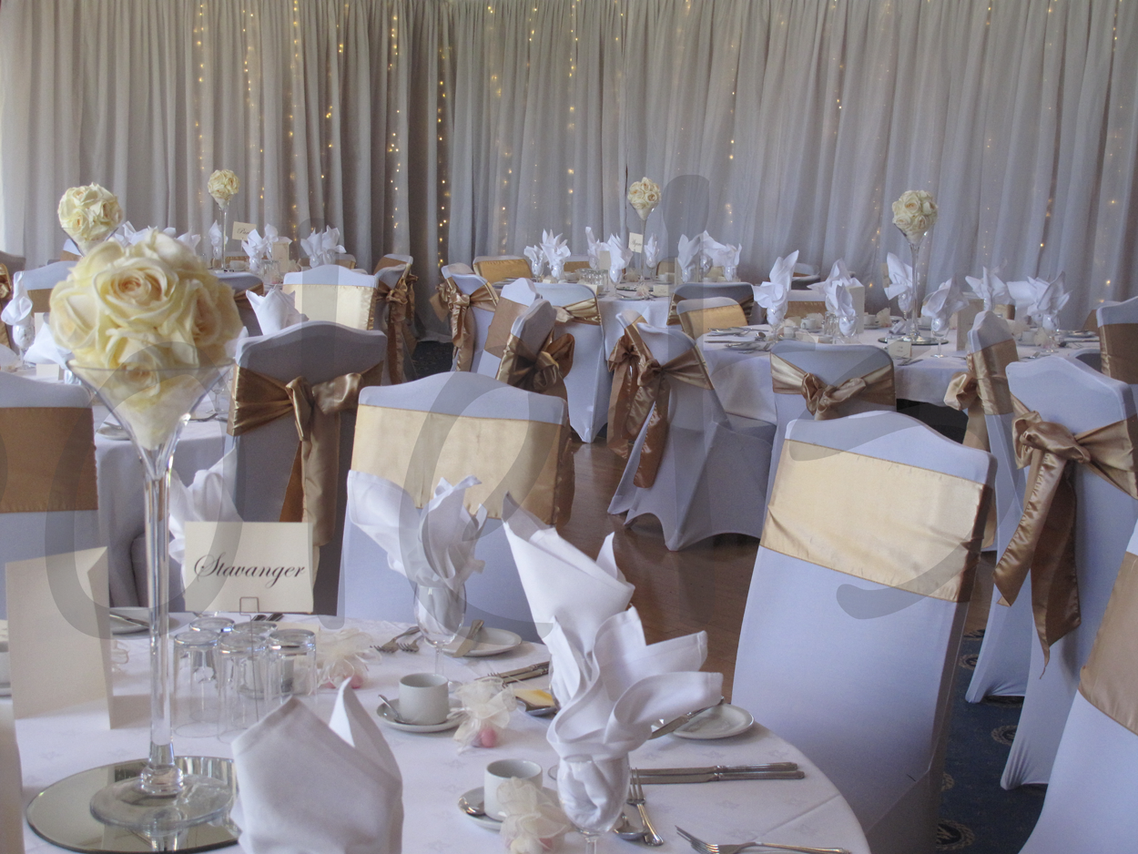 wedding decor packages chair cover sash accessory hire so lets 9000