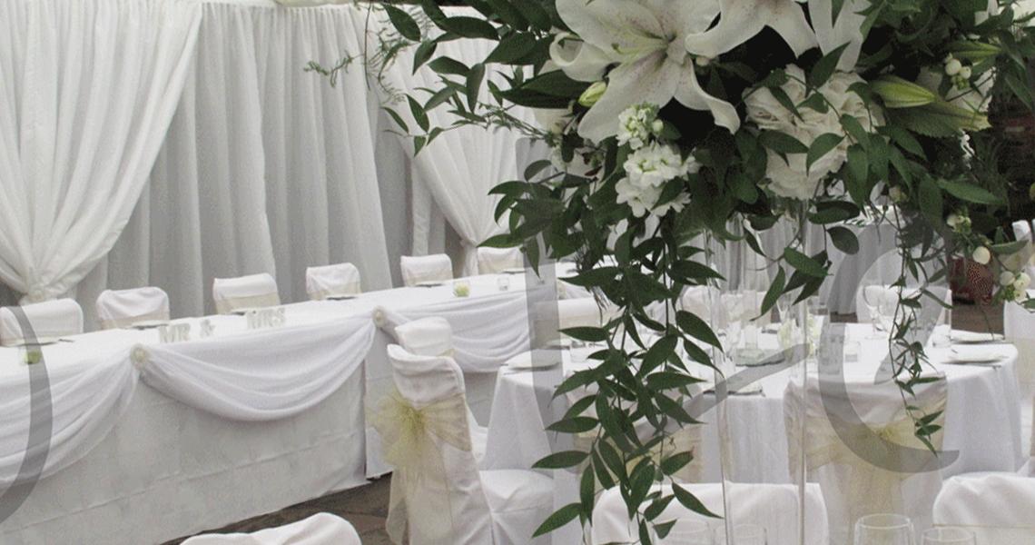 fresh floral wedding