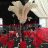 masquerade-table-decoration-ostrich-feather-hire