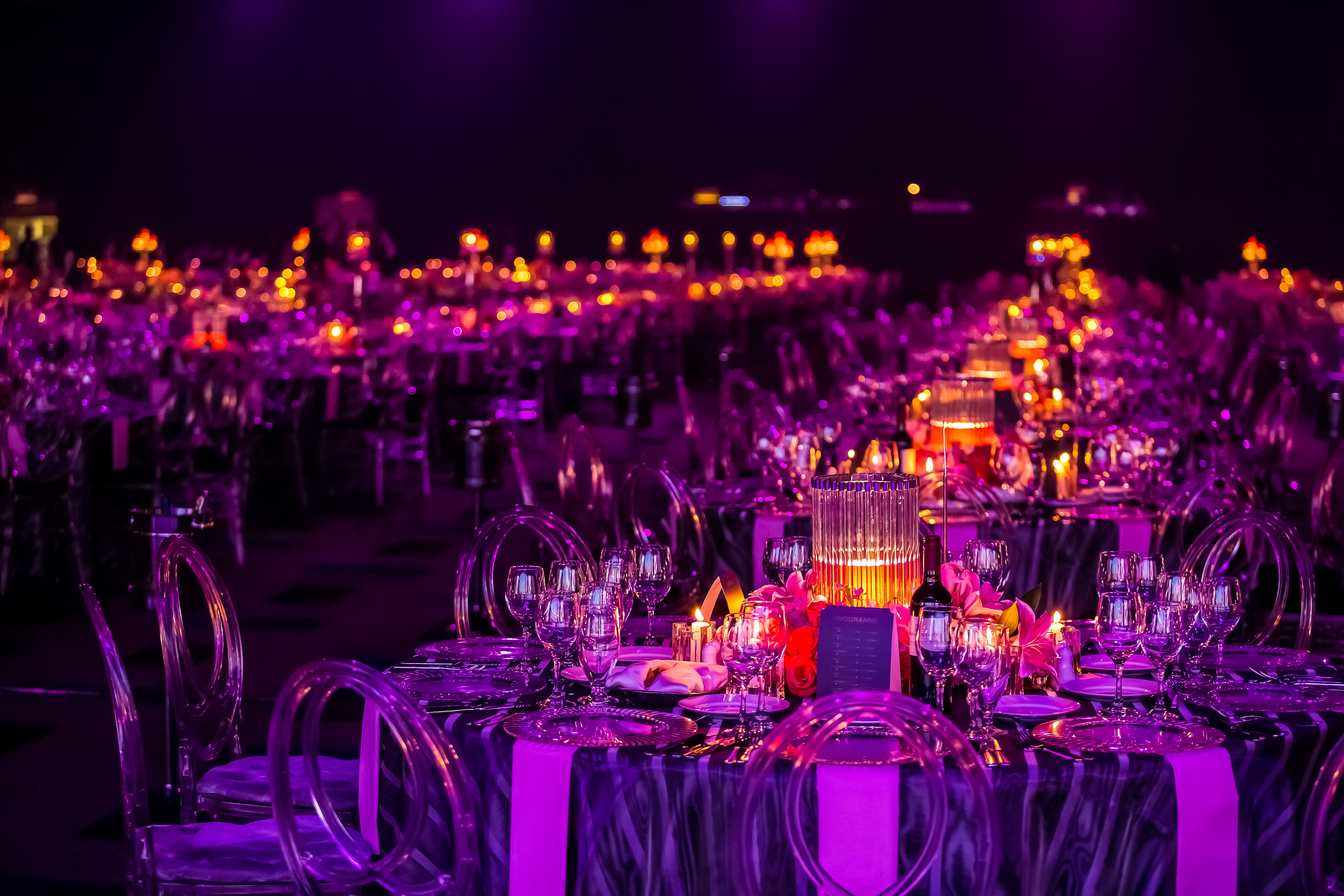 gala event decor - table decoration